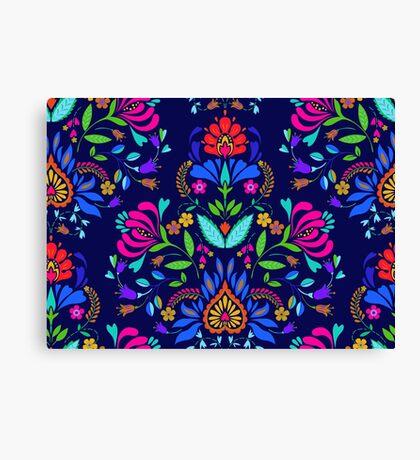 folk pattern - mexican vacation.  Canvas Print
