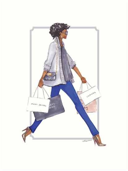 Off to Shop by veronicamarche