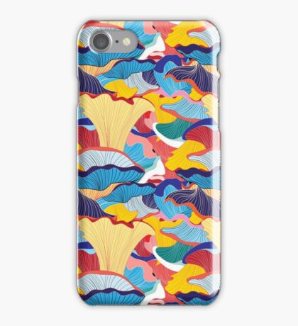 pattern of mushrooms iPhone Case/Skin