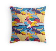 pattern of mushrooms Throw Pillow