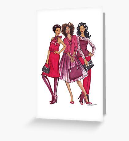 Ladies in Red Greeting Card