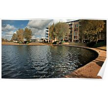 Lakeside View at Caldecotte, Milton Keynes Poster