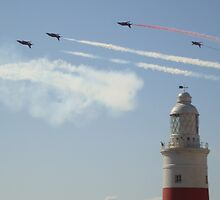 gibraltar lighthouseand red arrows by cordella