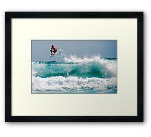 LONG BEACH SURFER Framed Print