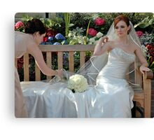 A Bride And Her Maid Of Honor Canvas Print