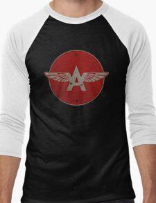 Flying A Gasoline Red Circle Rusty version Men's Baseball ¾ T-Shirt