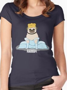 Pugerella! Women's Fitted Scoop T-Shirt