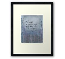 Though a man falls Proverbs verse calligraphy art Framed Print