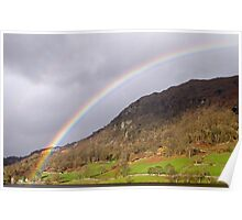 Rainbow over Nab Scar Lake District Poster