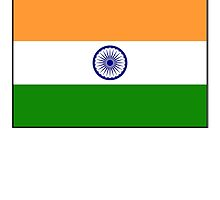 INDIA, India Flag, The National Flag of India, Pure & Simple by TOM HILL - Designer