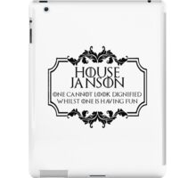 House Janson (black text) iPad Case/Skin