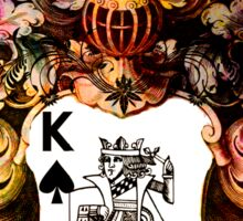 Poker King Spades colored Sticker