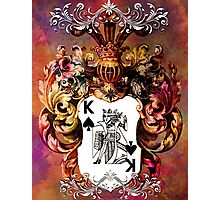 Poker King Spades colored Photographic Print