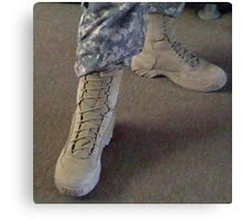 Army Boots Canvas Print