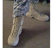 Army Boots Photographic Print
