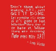 Create Art - Andy Warhol Quote Womens Fitted T-Shirt