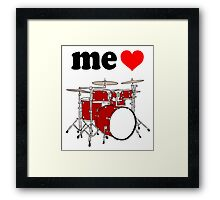 Me Love Drums Framed Print