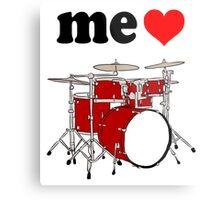 Me Love Drums Metal Print