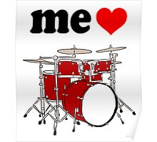 Me Love Drums Poster