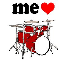 Me Love Drums Photographic Print