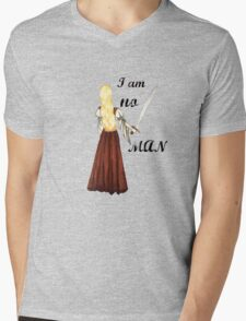 I am no man Mens V-Neck T-Shirt