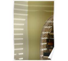 Bookcase shadows Poster