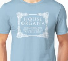 House Organa (white text) Unisex T-Shirt