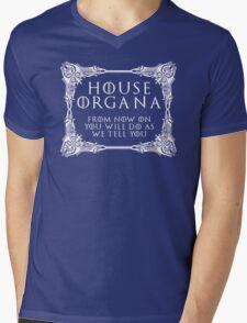 House Organa (white text) Mens V-Neck T-Shirt