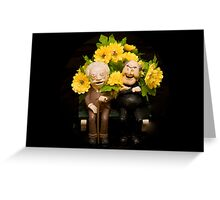 Flower Gossip Greeting Card
