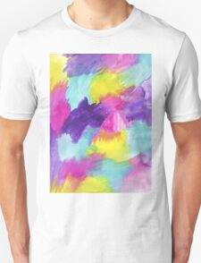 Watercolors Pink Blue Purple Yellow T-Shirt