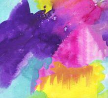 Watercolors Pink Blue Purple Yellow Sticker