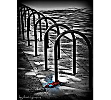 Don't steal my bike rack Photographic Print