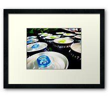 Soda Tops. Framed Print