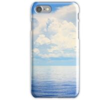 Cruising Sailboat on a calm Bahamas Sea iPhone Case/Skin