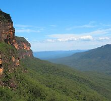 Jamison Valley Vista, Blue Mountains by Michael Vickery