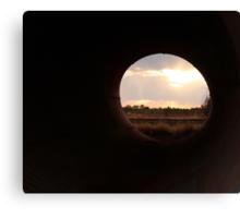 Sunset through a culvert Canvas Print