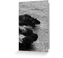 Cracked Conch Bay, Northwest Coastline, Grand Cayman Greeting Card