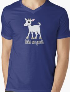 Totes Ma Goats Mens V-Neck T-Shirt