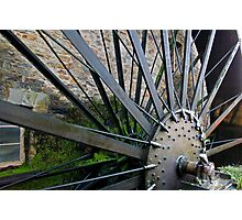 Old Mill Wheel 1 Photographic Print