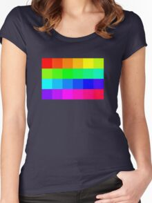Colorful Pixels  Women's Fitted Scoop T-Shirt