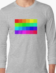 Colorful Pixels  Long Sleeve T-Shirt