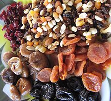 Platter of Mixed Dried Fruits & Nuts. by Mywildscapepics