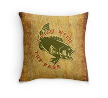Fish With Bass Throw Pillow