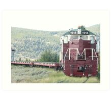 Old Train Engine at Leadville, Colorado. Art Print