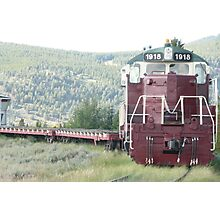 Old Train Engine at Leadville, Colorado. Photographic Print
