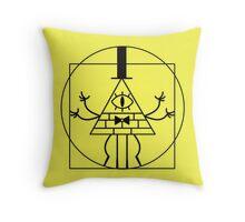 Bill Cipher Renaissance Man Throw Pillow