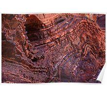 Rock formation at Hamersley Gorge Poster