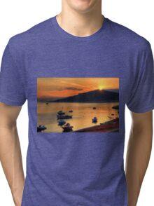 Sunrise over Nissaki Tri-blend T-Shirt