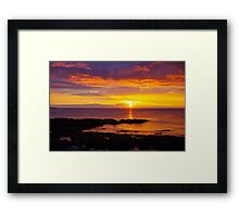 Ribbon of Gold Framed Print