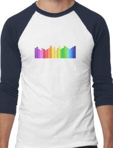 Colorful Bars Men's Baseball ¾ T-Shirt